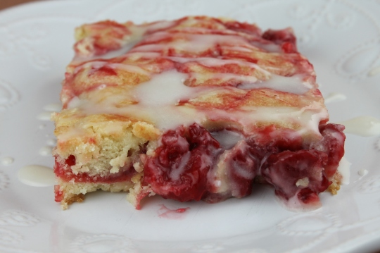 Cherry Pan Cake by www.mothersapronstrings.com
