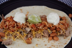 Tailgate Pork Burritos
