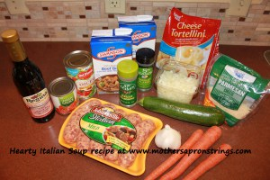 Ingredients for Hearty Italian Soup
