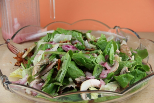 Spinach Salad with Poppy Seed Dressing